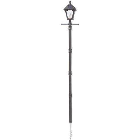 solar l post home depot gama sonic baytown solar black outdoor integrated led post