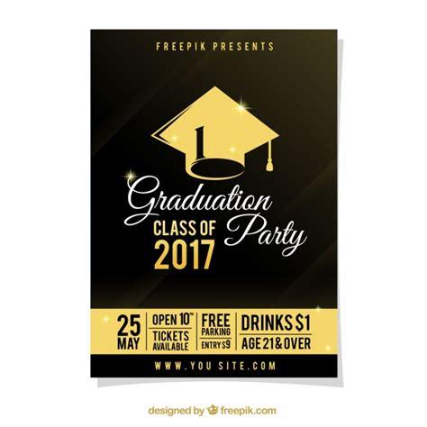 www freepik es plantillas de graduacion cartel de fiesta de graduaci 243 n con detalles dorados