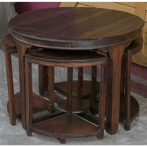 center table with stools burmese teak deco center table with small side