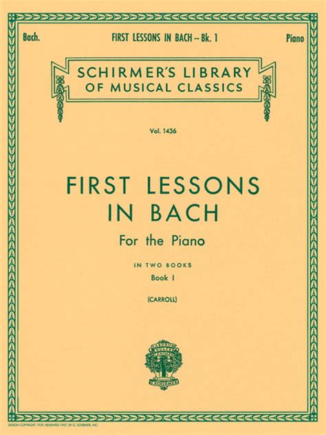 first lessons in bach 1423421922 first lessons in bach book 1 sheet music by johann sebastian bach sheet music plus