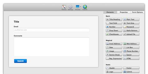 form design software freeware form builder lite for os x coffeecup software