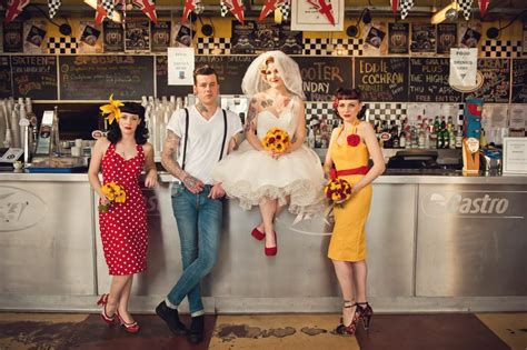 1950s Style Home Decor 1950s rockabilly wedding at the ace cafe london