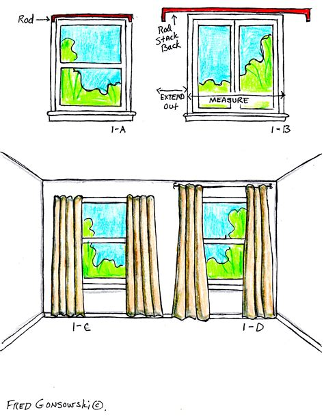 how to hang curtains on high window the right way to hang curtains and drapes fred