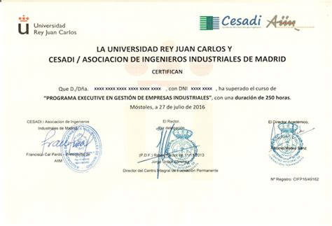 Universidad Juan Carlos Mba by Diploma De Acreditaci 243 N Universidad Juan Carlos