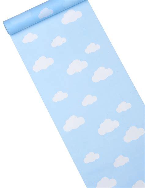 chemin de table tissu chemin de table tissu bleu ciel imprim 233 nuage d 233 coration anniversaire et f 234 tes 224 th 232 me sur