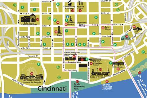 maps cincinnati maps update cincinnati tourist attractions map map