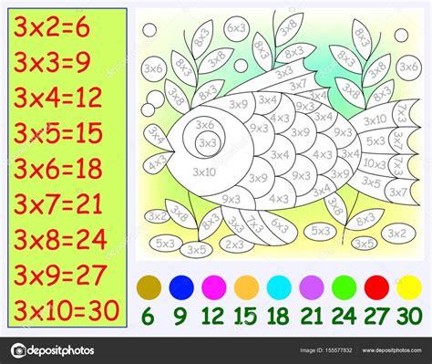 de dibujos multiplicaciones para los ninos a imprimir y colorear ejercicio para los ni 241 os con la multiplicaci 243 n por tres