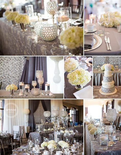 silver and grey wedding decor avenue photo venue