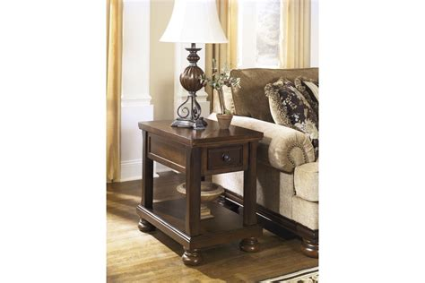 porter chairside end table porter chair side end table in rustic brown by ashley at