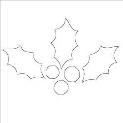 holly leaf templates free printable patterns to cut out