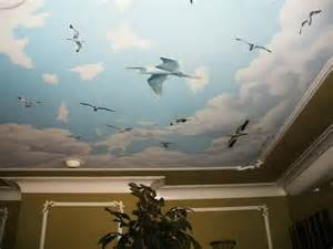 the different methods to create ceiling murals modern