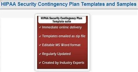 Why Companies Need To Create Hipaa Contingency Plans By Joseph L Hipaa Disaster Recovery Plan Template