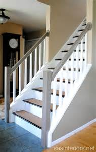 How To Stain Banister For Stairs Remodelaholic Carpet To Wood Stairs