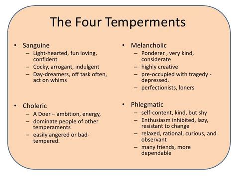 Choleric Personality Essay by 19 Best Characteristics Of The Four Humors Images On Personality Arbors And