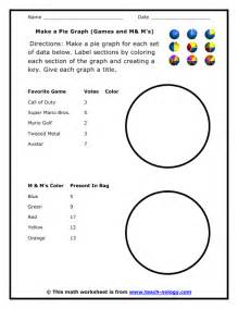 make a pie graph games and m amp ms