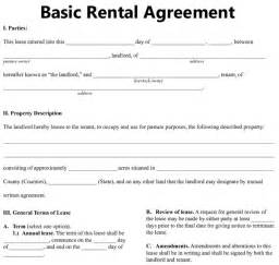 simple rental agreement template basic rental agreement fillable 39 excellent rental
