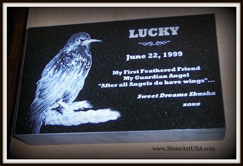 custom made granite garden memorial markers for pets and