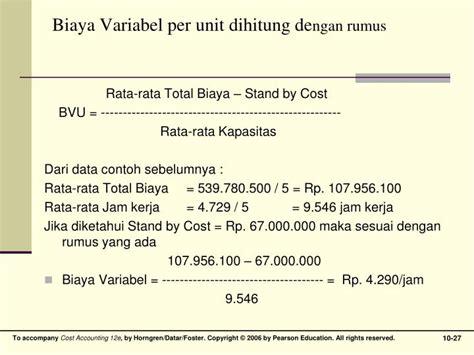 Buku Rumus Dan Data Dalam Analisis Statistik ppt analisis per ilaku biaya powerpoint presentation id 3265177
