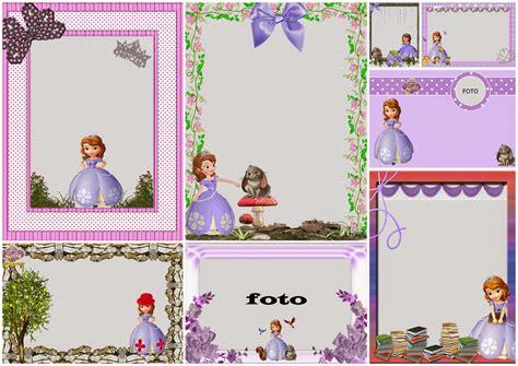 frame design sofia sofia the first free printable invitations or photo frames