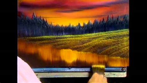 bob ross painting easy the of painting s13e4 evening at sunset