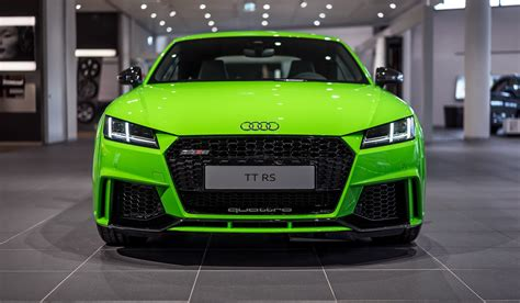 2017 Audi TT RS in Lime Green Looks Like a Tiny Exotic Car autoevolution