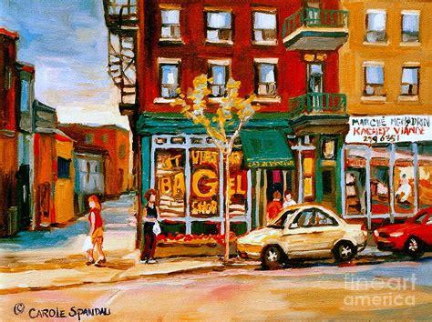 paint places paintings of famous montreal places st viateur bagel city