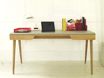 Leather Office Desk Beckett Oak And Grey Leather Desk Desks Gray And Leather