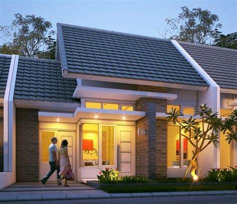 desain depan rumah com desain rumah type 45 tak depan contoh gambar rumah