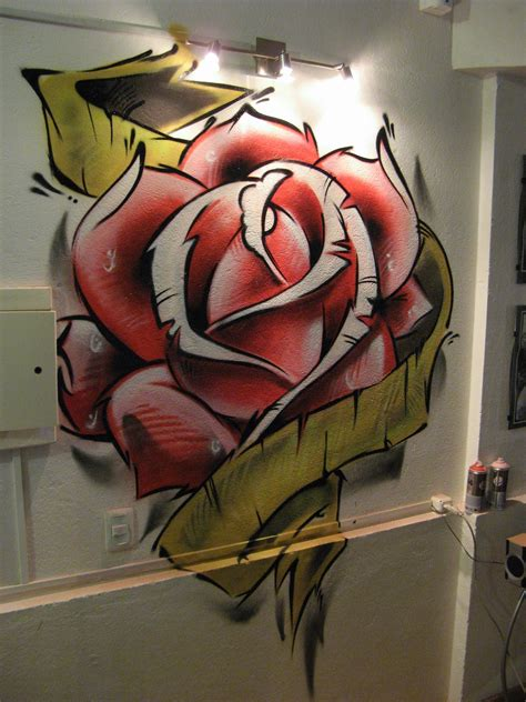 Imagenes De Rosas En Grafiti | graffitis de rosas arte con graffiti