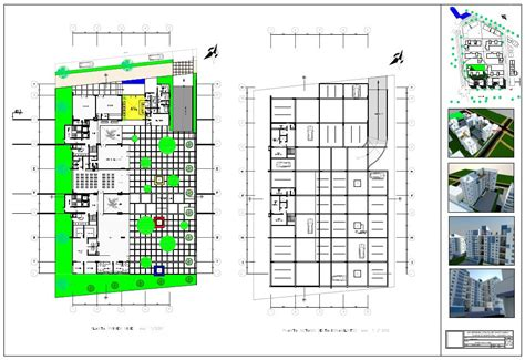 3d ground floor plan residentialcomplex in 3d plans ground floor and basement
