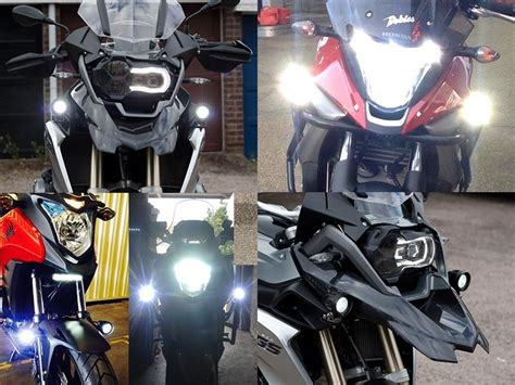 motorcycle led auxiliary lights bikevis cree led aux lights bikevis
