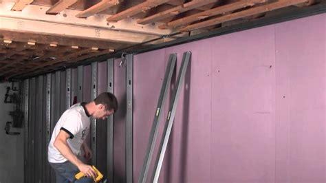 studding basement walls smart u 414 metal stud framing