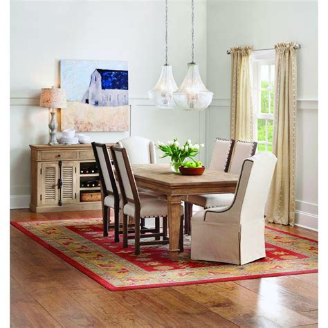 Home Decorators Collections Home Decorators Collection Highland Sandblasted Dining Table 9528600980 The Home Depot