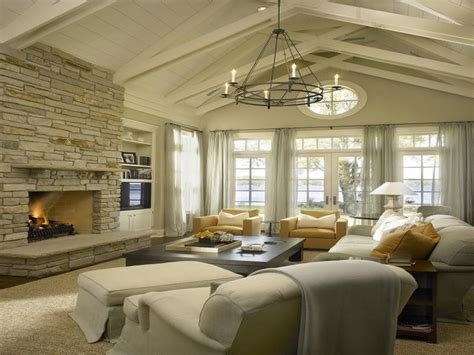 vaulted ceiling decorating ideas living room chair side tables living room living room fireplace