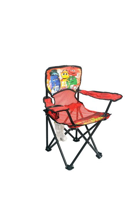 pretty krafts folding chair with bottle pockets