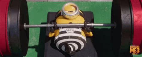 minion work out gif minion workout despicableme