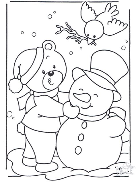 Snow Coloring Pages Preschool | preschool winter coloring pages az coloring pages