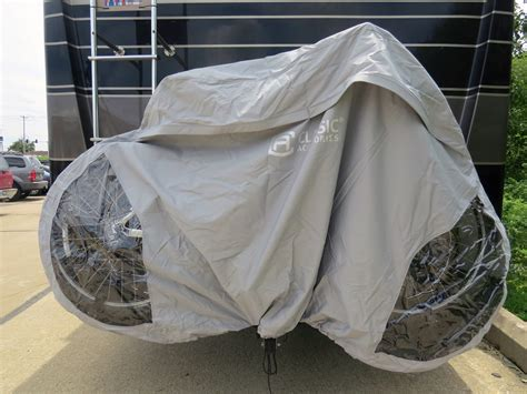 Bike Rack Covers by Classic Accessories Deluxe 3 Bike Cover For Rv Hitch
