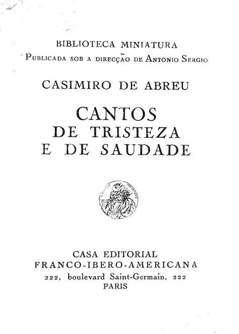 Biblioteca Brasiliana Guita e José Mindlin: Cantos de