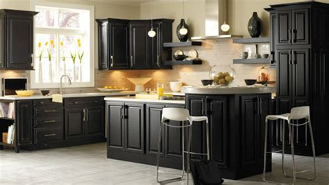 Black Kitchen Cabinets Design Ideas - black kitchen cabinet knobs home furniture design