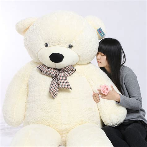 Boneka Big Brown Teddy joyfay 91 230cm white teddy stuffed plush