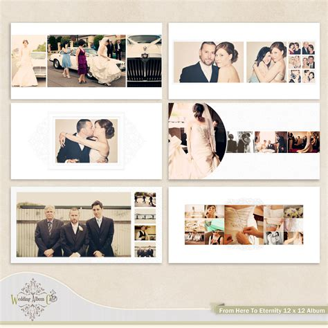 wedding photobook layout from here to eternity wedding album template by