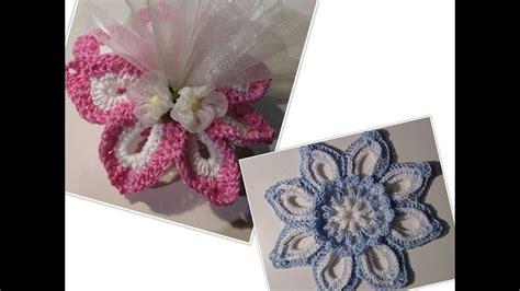 all uncinetto bomboniera fiore alluncinetto tutorial crochet