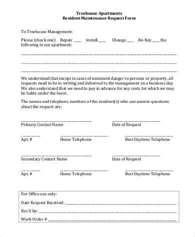 Apartment Maintenance Request Form Template Latest Bestapartment 2018 Tenant Maintenance Request Form Template