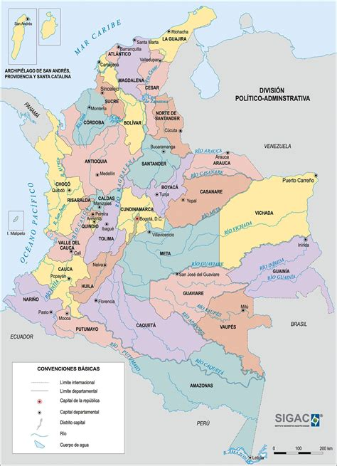 map of columbia large detailed administrative map of colombia colombia large detailed administrative map
