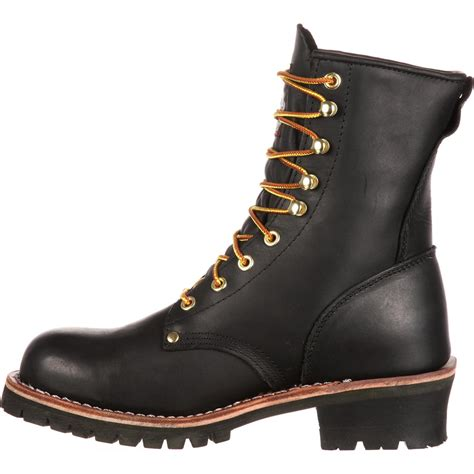 Black Master Boot Us boot s 8 quot black logger work boots style g8120