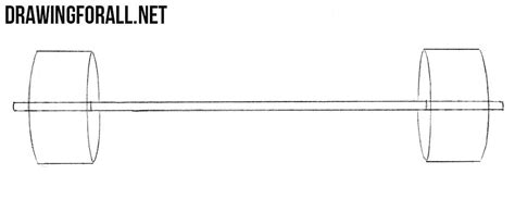 Stick Barbell how to draw a barbell drawingforall net