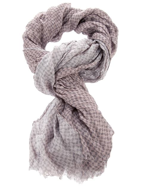 giorgio armani pattern scarf in pink for lyst