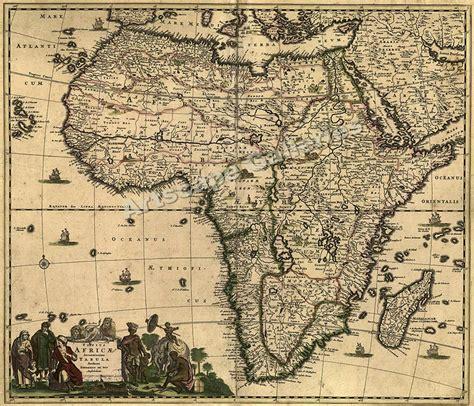 vintage maps 1688 africa mediteranean vintage style map 20x24 ebay