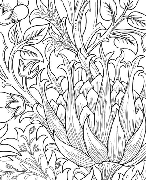 William Morris Art Coloring Pages William Morris Colouring Pages